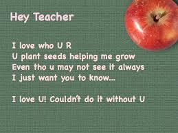 Hey Teacher